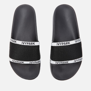 Ivy Park Women's Sheer Mesh Sliders - Black