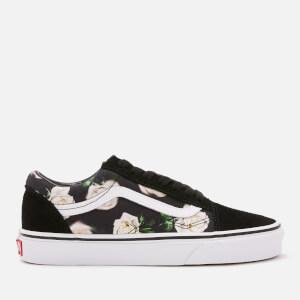 Vans Women s Romantic Floral Old Skool Trainers - Black True White 27a939314a7b2