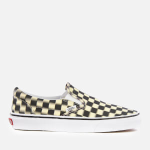 Vans Blur Check Classic Slip-On Trainers - Black/Classic White