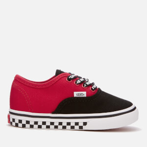 Vans Toddlers' Logo Pop Authentic Trainers - Black/True White
