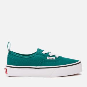 Vans Kids' Authentic Elastic Lace Trainers - Quetzal Green/True White
