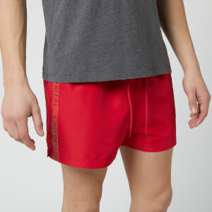 Calvin Klein Men's Short Swim Shorts - Lipstick Red