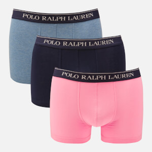 Polo Ralph Lauren Men's 3 Pack Classic Trunk Boxer Shorts - Cruise Navy/Delta Blue/Harbour Pink