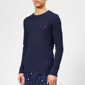 Polo Ralph Lauren Men's Long Sleeve Waffle T-Shirt - Cruise Navy/Heart Red