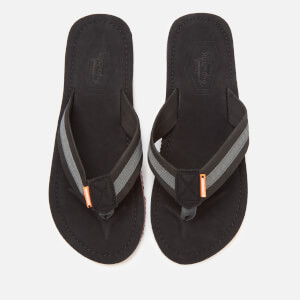 Superdry Men's Cove 2.0 Flip Flops - Black/Charcoal