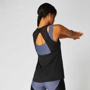 MP Women's Mesh Detail Open Back Vest - Black