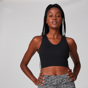 Power Longline Sports Bra - Black