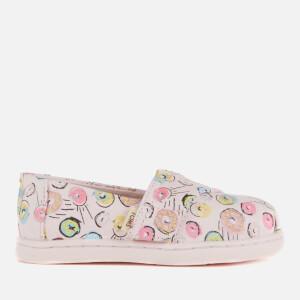 TOMS Toddlers' Alpargata Vegan Slip-On Pumps - Pink Donuts