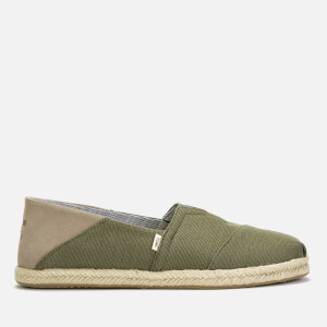 TOMS Men's Alpargata Slip-On Pumps - Lichen Green