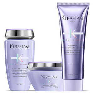 Kérastase Blond Absolu Ultra Violet Shampoo, Masque and Conditioner Trio -hiustenhoitosetti