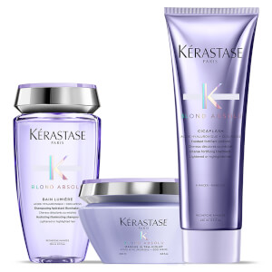 Kérastase Blond Absolu Ultra Violet Shampoo, Masque and Conditioner Trio