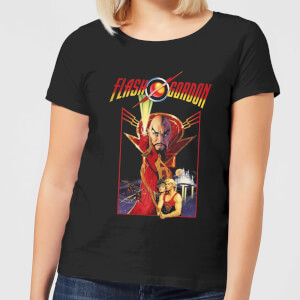 Flash Gordon Retro Movie Damen T-Shirt - Schwarz