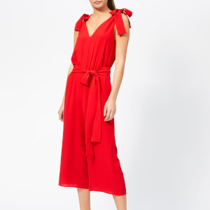 MICHAEL MICHAEL KORS Women's Tie Shoulder Jumpsuit - Scarlet