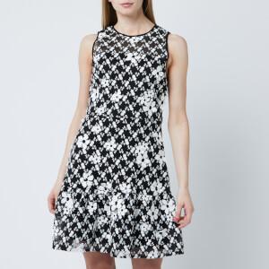 MICHAEL MICHAEL KORS Women's Floral Mesh Embellished Dress - Black/White
