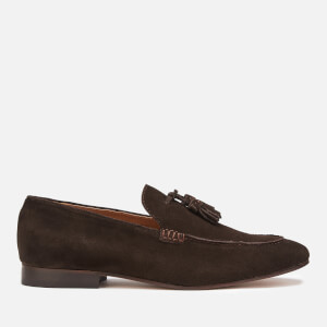 Hudson London Men's Bolton Suede Tassel Loafers - Brown