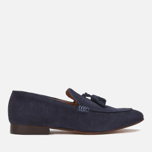 Hudson London Men's Bolton Suede Tassel Loafers - Navy