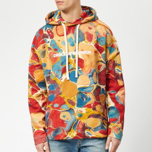 Drôle de Monsieur Men's Marbled Hoody - Multi