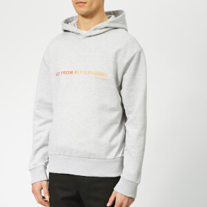 Drôle de Monsieur Men's Shaded Slogan Hoody - Grey
