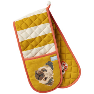 Joules Dog Print Double Oven Glove