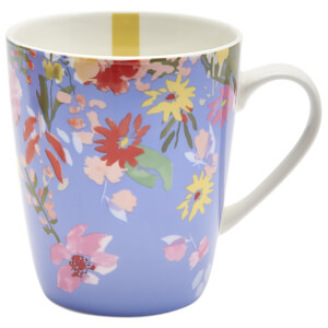 Joules Hollyhock Meadow Floral Mug - Blue