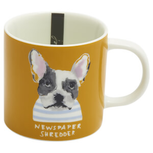 Joules Dog Mug - Gold