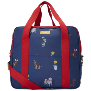 Joules Dog Print Picnic Cool Bag - Blue