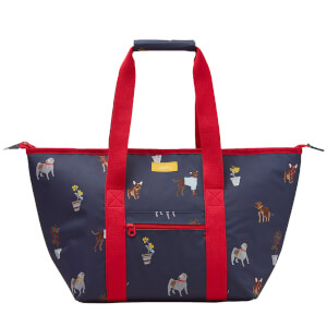 Joules Dog Print Picnic Carrier Bag - Blue