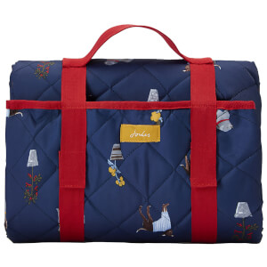 Joules Dog Print Picnic Rug - Blue