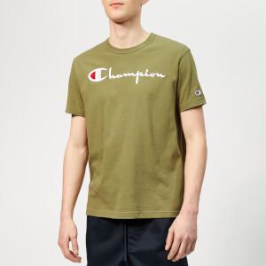 Champion Men's Script T-Shirt - Khaki