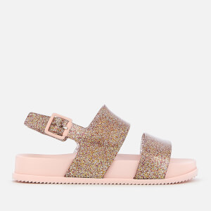 Mini Melissa Kids' Cosmic Double Strap Sandals - Rose Glitter