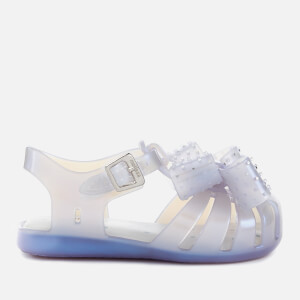Mini Melissa Toddlers' Mini Aranha Disco Bow Sandals - Iridescent