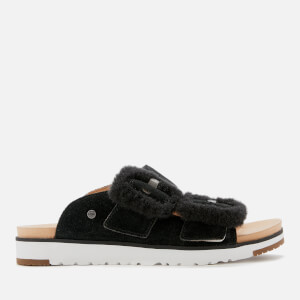 UGG Women's Fluff Indio Double Strap Sandals - Black