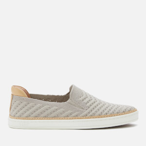 UGG Women's Sammy Chevron Metallic Slip-On Trainers - Oyster
