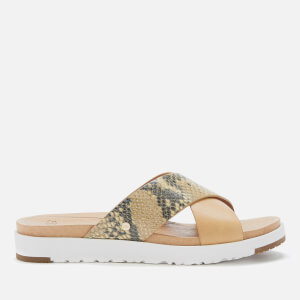 UGG Women's Kari Exotic Cross Strap Slide Sandals - Tan