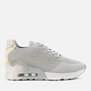 Ash Women's Lucky Knit Runner Style Trainers - Pearl