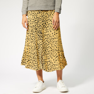 Whistles Women's Animal Print Midi Skirt - Cream/Multi