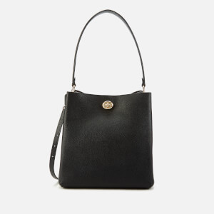 Coach Women's Polished Pebble Leather Charlie Bucket Bag - Black