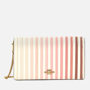 Coach Women's Ombre Quilting Foldover Chain Clutch Bag - Chalk