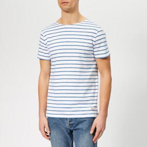 Armor Lux Men's Mariniere Hoedic T-Shirt - Blanc/Moody Blue