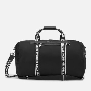 06b84bfc70db3a Michael Kors Men's Logo Webbed Holdall Bag - Black/White