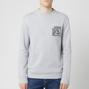 Versace Collection Men's Logo Sweatshirt - Grey Melange