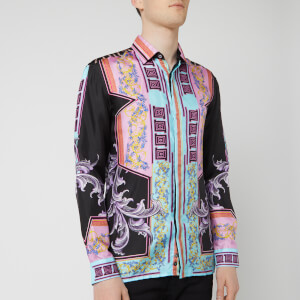 Versace Collection Men's Silk Print Shirt - Black