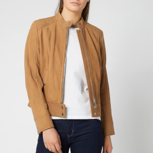 BOSS Women's Jutah Suede Jacket - Tan