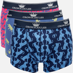 Joules Men's Crown Joules 3 Pack Boxer Shorts - Top Dog