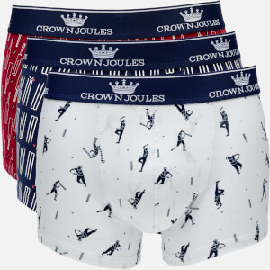 Joules Men's Crown Joules 3 Pack Boxer Shorts - Sticky Wicket