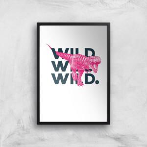 Wild Dinosaur Art Print