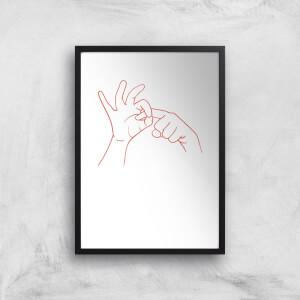 Sexy Hand Gesture Art Print