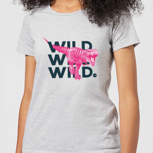 Wild Dinosaur Women's T-Shirt - Grey