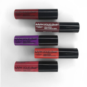 NYX Professional Makeup Liquid Suede Cream Lipstick Mini (Mixed Shades) (Free Gift)