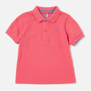 Joules Boy's Woody Polo Shirt - Dark Dahlia Pink